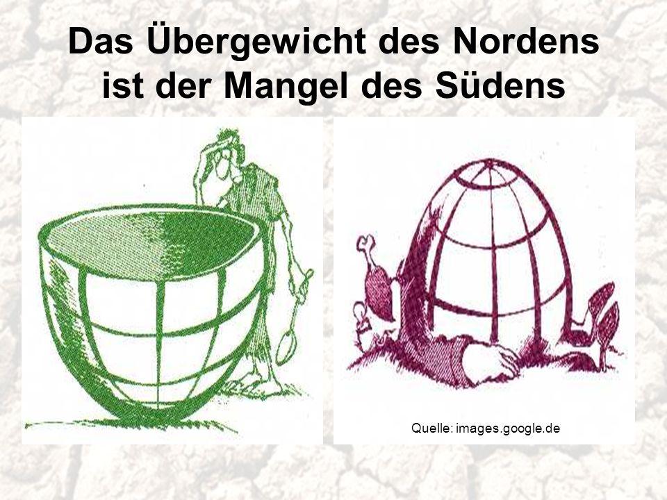 Das Übergewicht des Nordens ist der Mangel des Südens Quelle: images.google.de