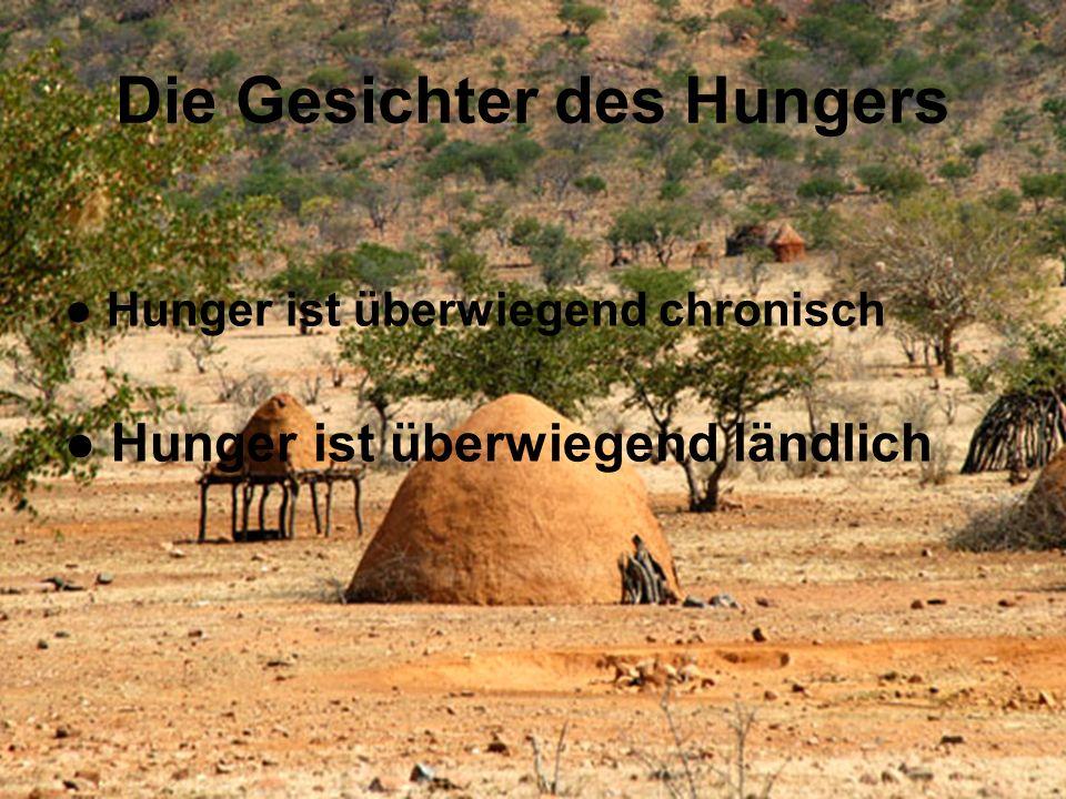 Die Gesichter des Hungers Hunger ist überwiegend chronisch Hunger ist überwiegend ländlich