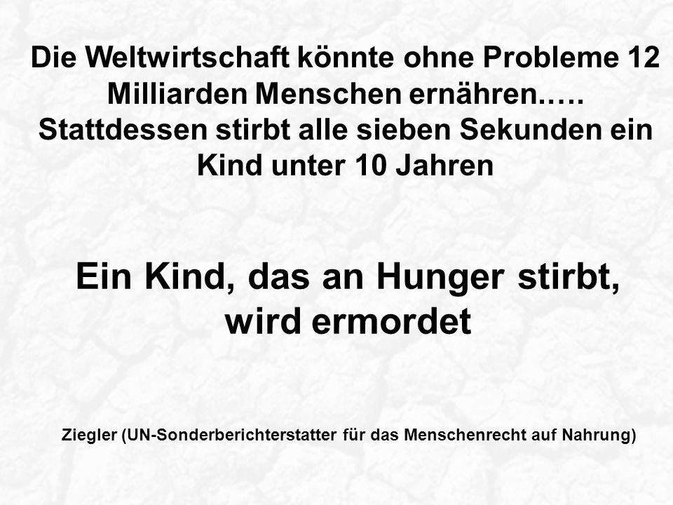 Die Weltwirtschaft könnte ohne Probleme 12 Milliarden Menschen ernähren.….