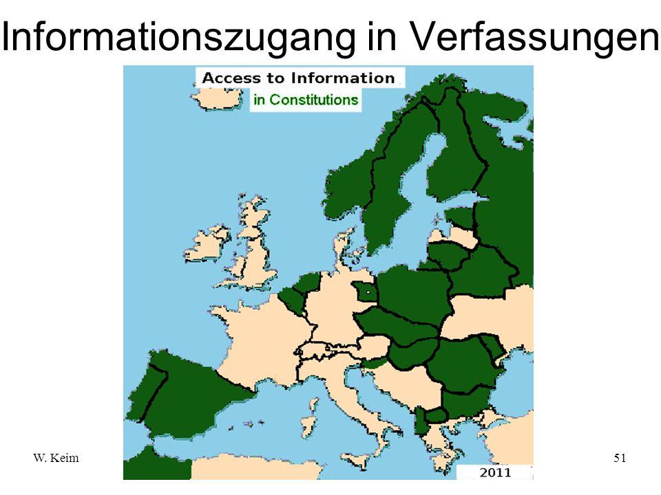W. KeimMenschenrecht Informationszugang51 Informationszugang in Verfassungen