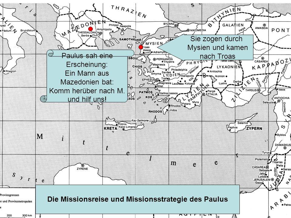 Paulus sah eine Erscheinung: Ein Mann aus Mazedonien bat: Komm herüber nach M.