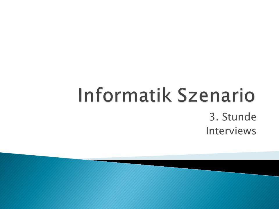 3. Stunde Interviews