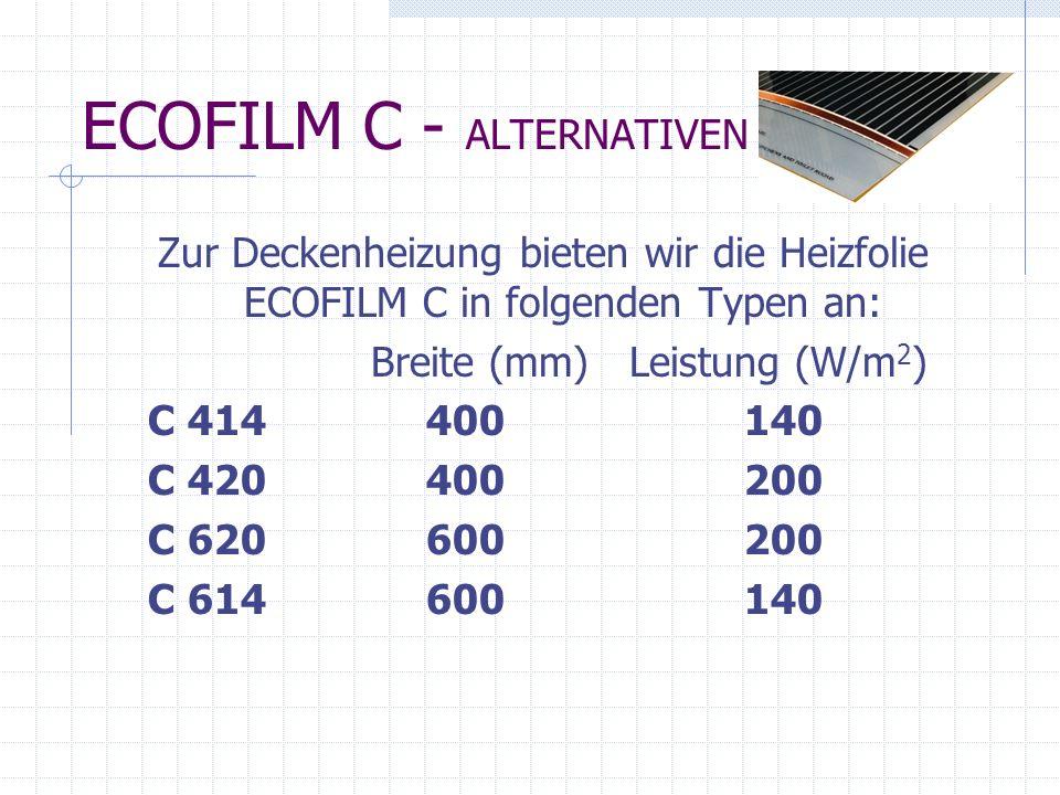 Montagezubehör für die Folie ECOFILM C Verbindungskabel (1) Presszange (2) Polyester-Isolierband (3) Kunststoffabdeckungen (4) Steckverbindungen (5)