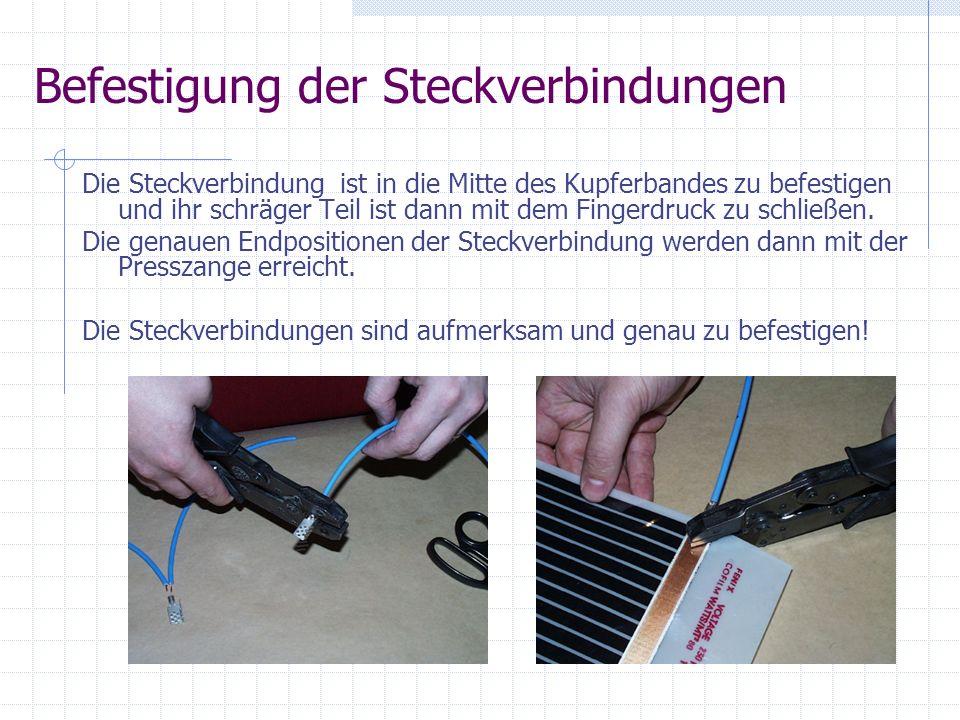 Die Presssteckverbindung ist mit einer Kunststoffabdeckung zu decken.