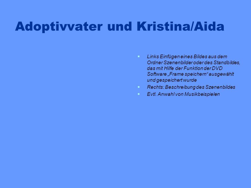 Adoptivvater und Kristina/Aida Links Einfügen eines Bildes aus dem Ordner Szenenbilder oder des Standbildes, das mit Hilfe der Funktion der DVD Softwa