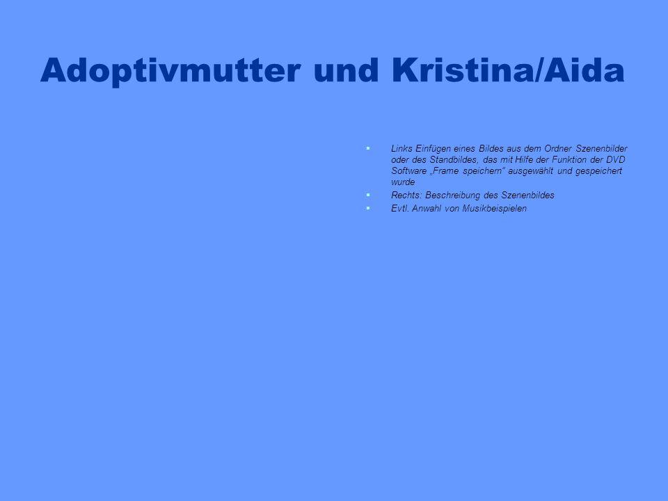 Adoptivmutter und Kristina/Aida Links Einfügen eines Bildes aus dem Ordner Szenenbilder oder des Standbildes, das mit Hilfe der Funktion der DVD Softw