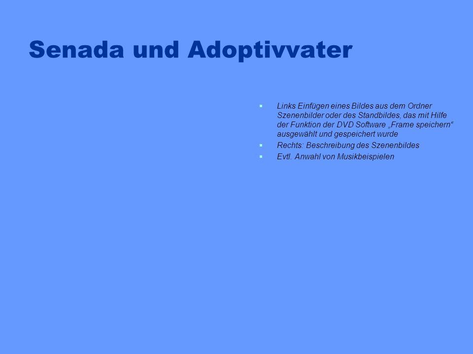 Senada und Adoptivvater Links Einfügen eines Bildes aus dem Ordner Szenenbilder oder des Standbildes, das mit Hilfe der Funktion der DVD Software Fram