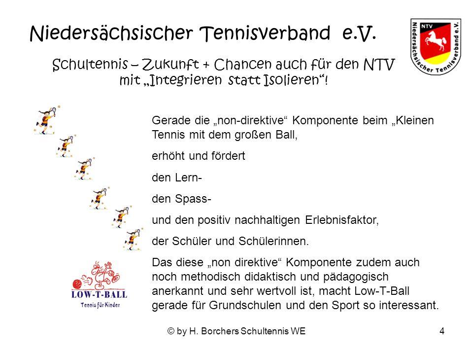 © by H. Borchers Schultennis WE4 Niedersächsischer Tennisverband e.V.