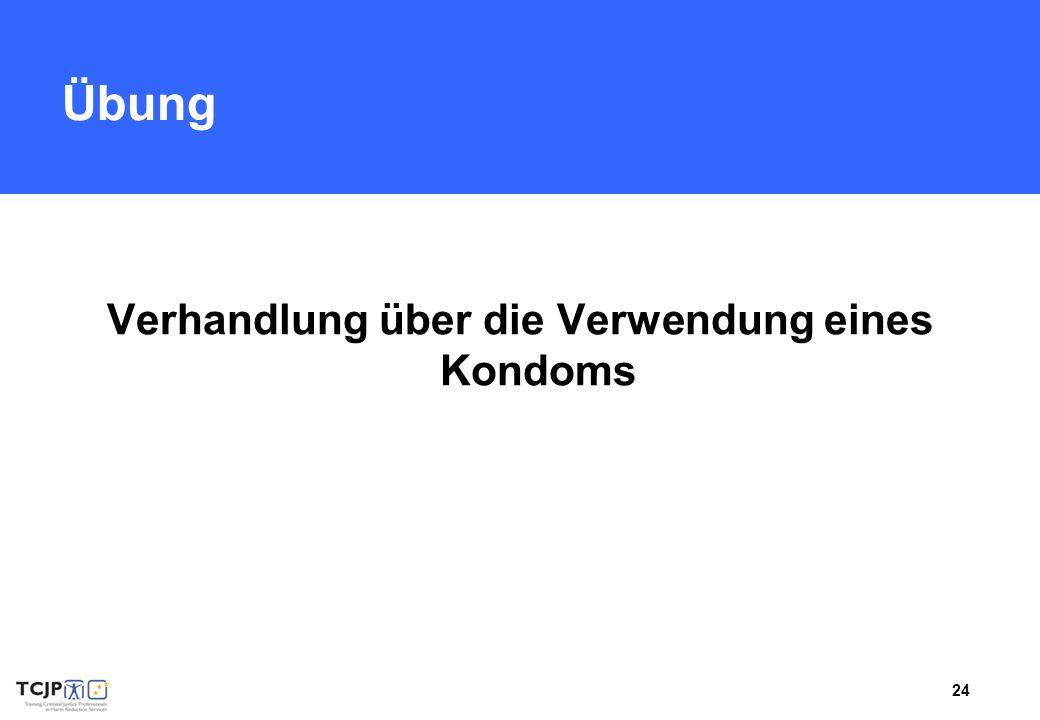 24 Übung Verhandlung über die Verwendung eines Kondoms