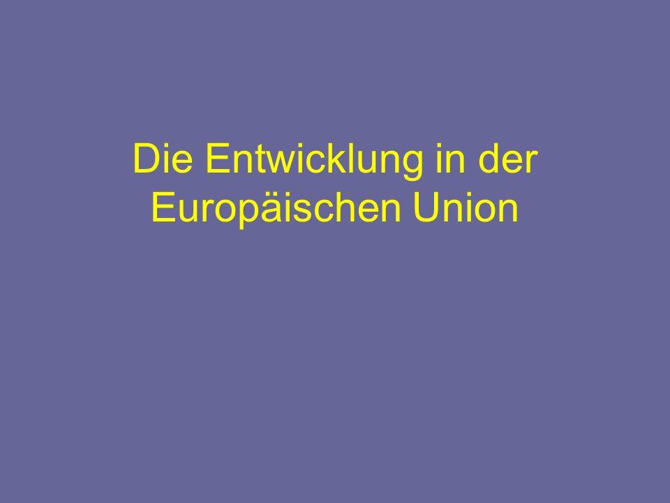 Die Entwicklung in der Europäischen Union