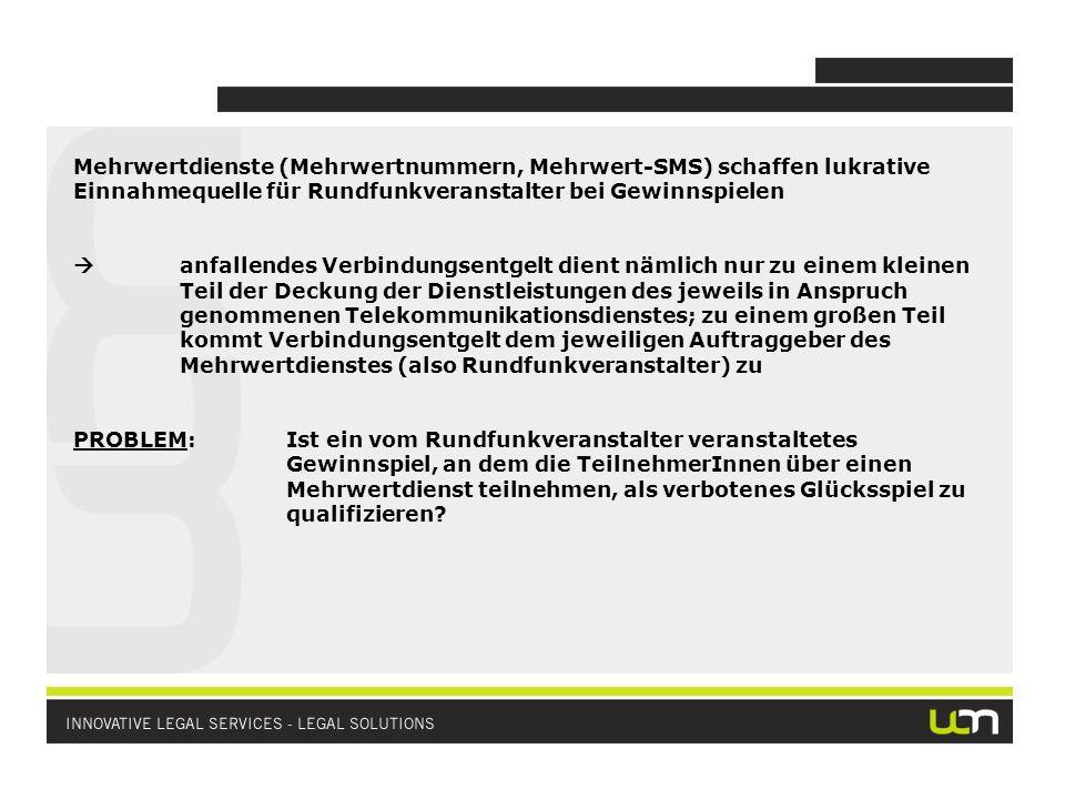 In Österreich besteht (noch) Glücksspielmonopol des Bundes Gewerbsmäßiges Anbieten von Glücksspielen in Österreich ist grundsätzlich konzessionspflichtig und unterliegt der staatlichen Aufsicht Rechtsgrundlage: Glücksspielgesetz (GSpG)