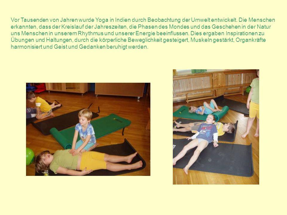 Vor Tausenden von Jahren wurde Yoga in Indien durch Beobachtung der Umwelt entwickelt. Die Menschen erkannten, dass der Kreislauf der Jahreszeiten, di