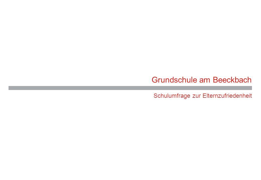 Grundschule am Beeckbach Schulumfrage zur Elternzufriedenheit