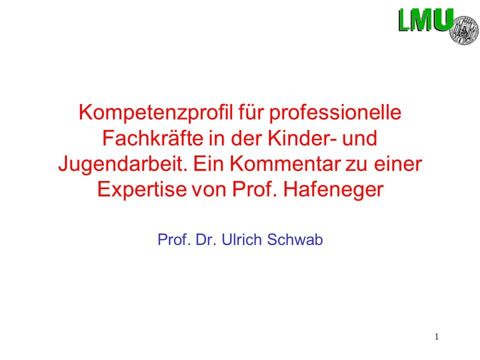 1 Kompetenzprofil für professionelle Fachkräfte in der Kinder- und Jugendarbeit.