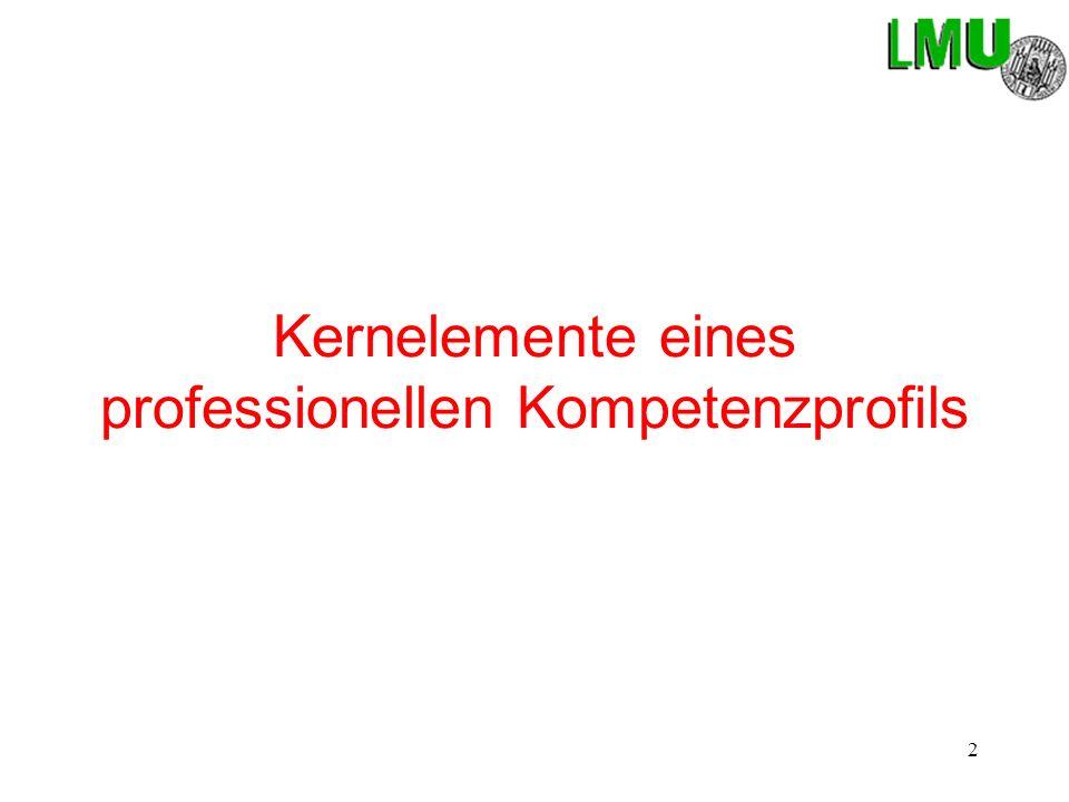 2 Kernelemente eines professionellen Kompetenzprofils
