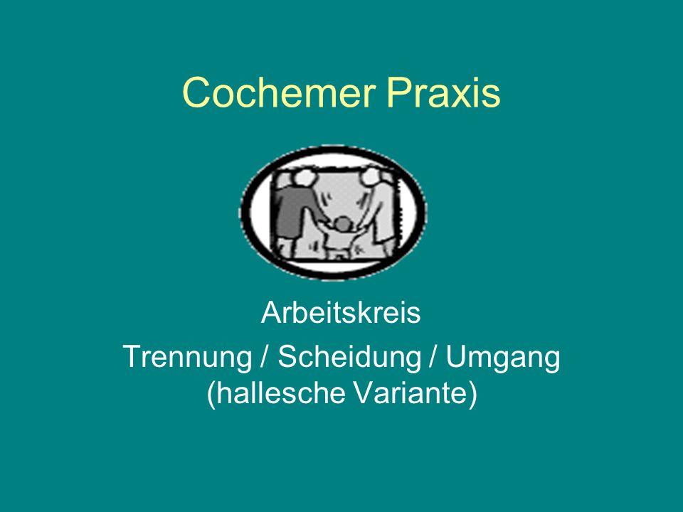 Cochemer Praxis Arbeitskreis Trennung / Scheidung / Umgang (hallesche Variante)