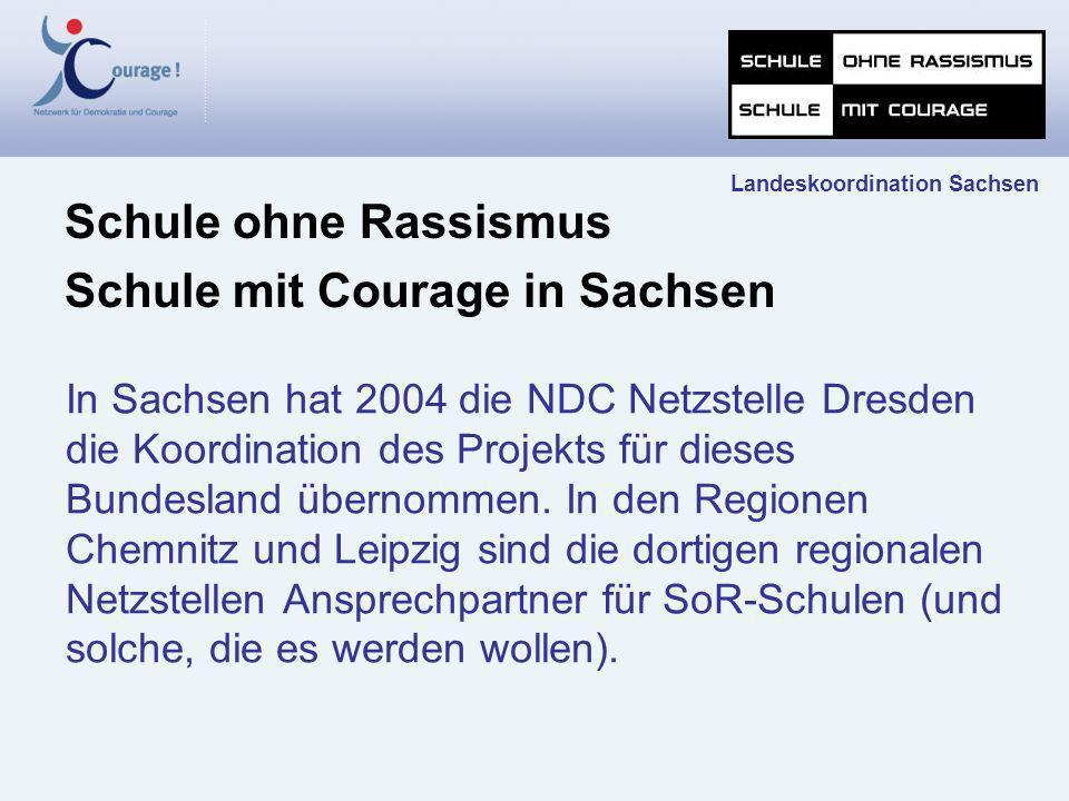 In Sachsen hat 2004 die NDC Netzstelle Dresden die Koordination des Projekts für dieses Bundesland übernommen. In den Regionen Chemnitz und Leipzig si