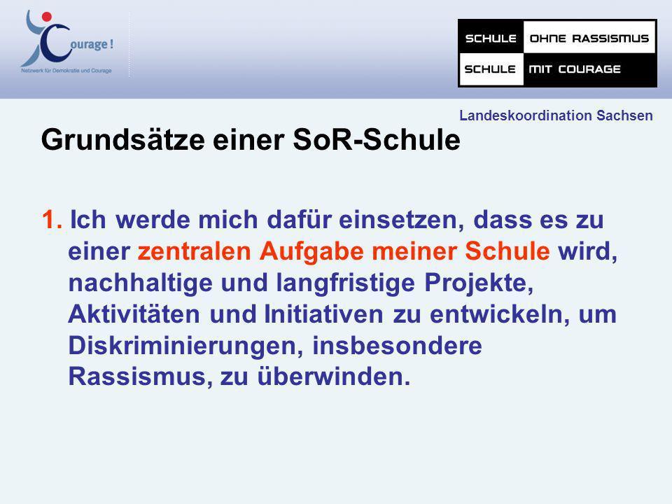 Landeskoordination Sachsen Zehn Schritte zu einer Schule ohne Rassismus - Schule mit Courage Bild: Titelverleihung an Goethe- Gymnasium Chemnitz
