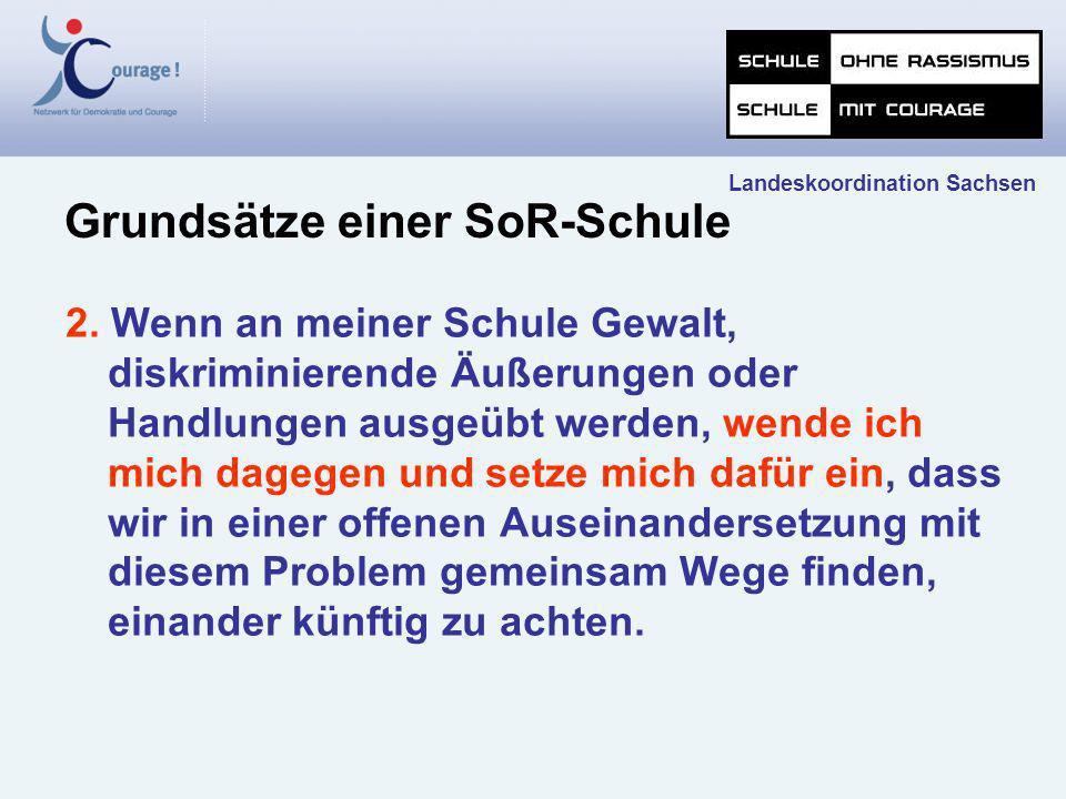 Landeskoordination Sachsen Zehn Schritte zu einer Schule ohne Rassismus - Schule mit Courage Bild: Albert-Schweitzer- Mittelschule Chemnitz