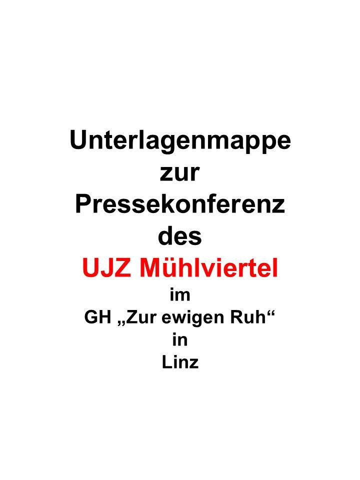 Unterlagenmappe zur Pressekonferenz des UJZ Mühlviertel im GH Zur ewigen Ruh in Linz