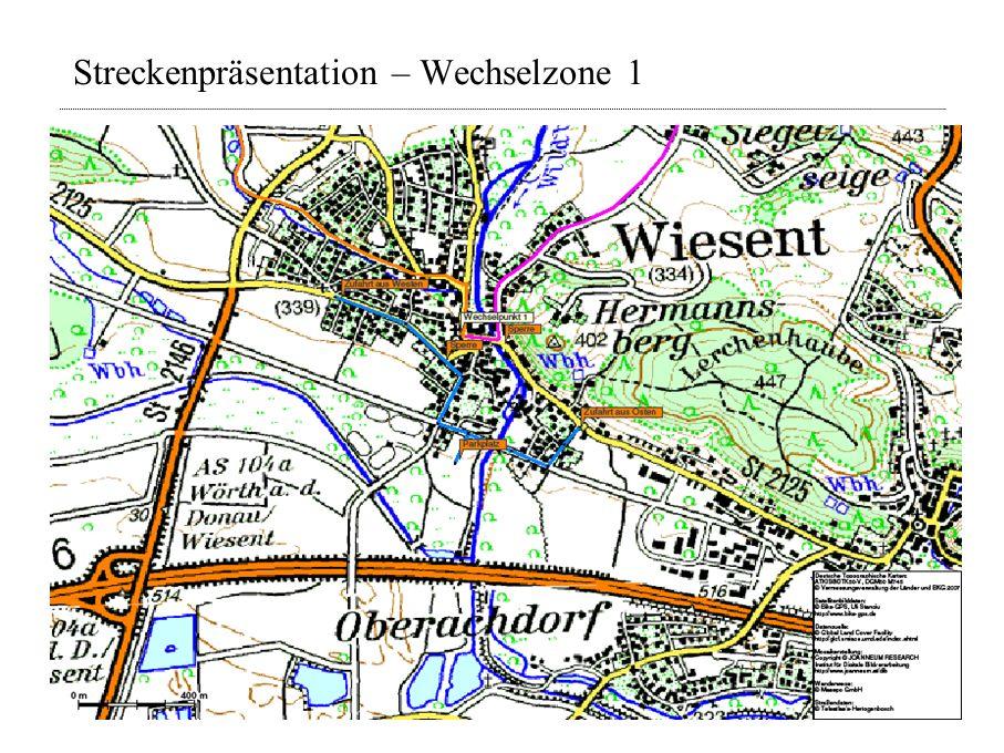 Streckenpräsentation – Wechselzone 1