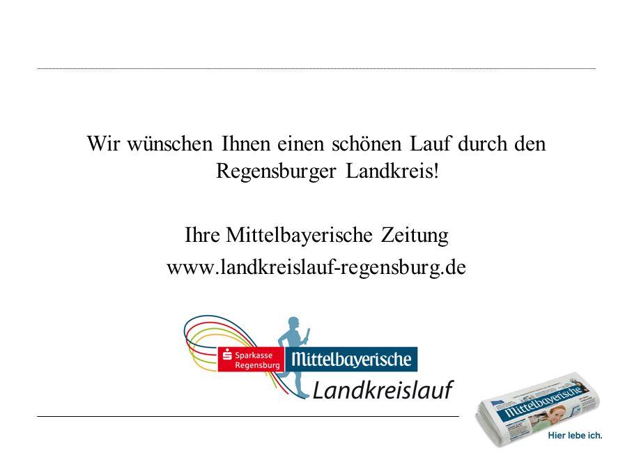 Wir wünschen Ihnen einen schönen Lauf durch den Regensburger Landkreis.