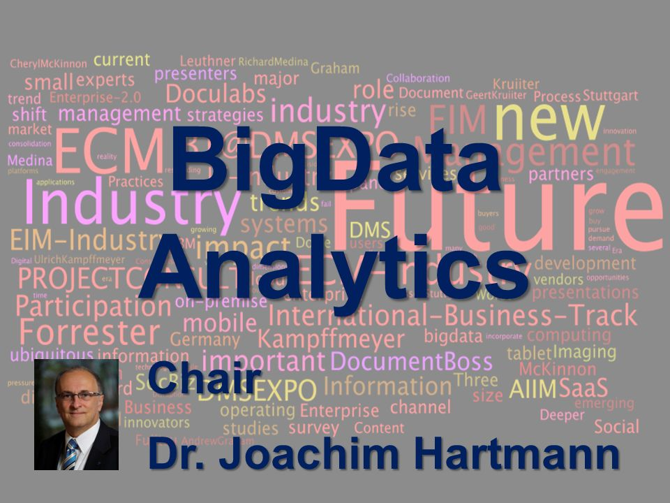 3 BigData AnalyticsPanel-Diskussion DMS EXPO 2013Moderation Dr.