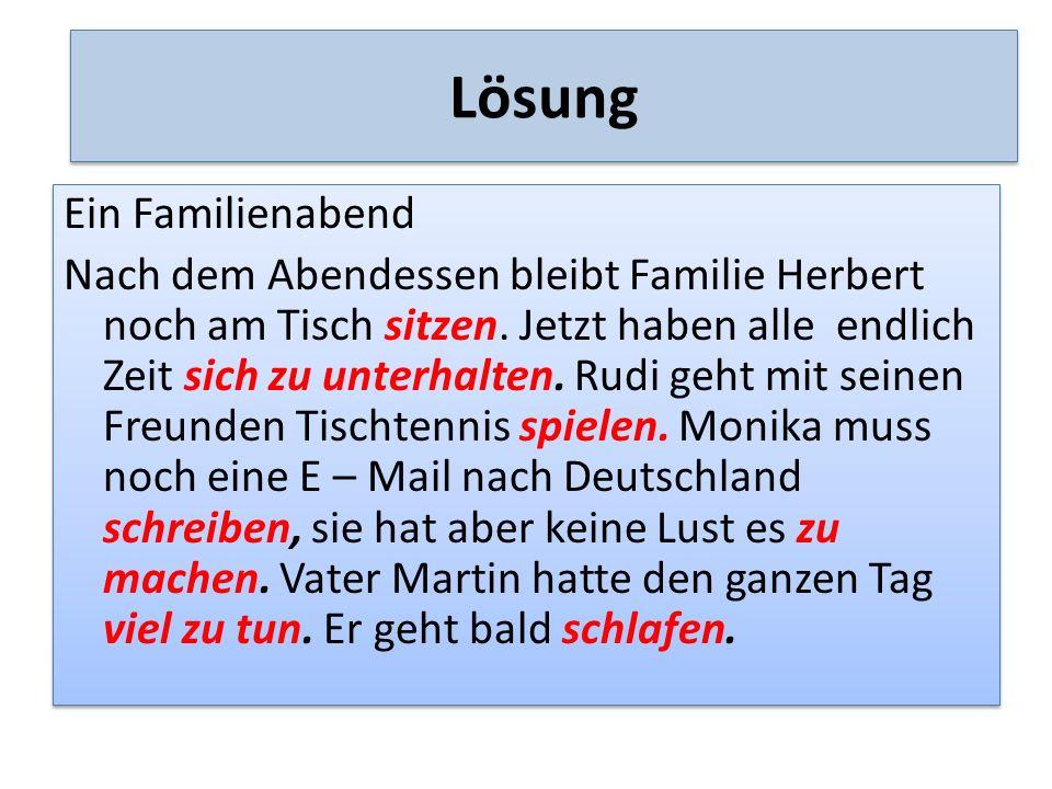 Zdroje Berglová, Formánková, Mašek: Německá gramatika, Fraus, 1995 Doris Dusilová a kol.: Sprechen Sie Deutsch.