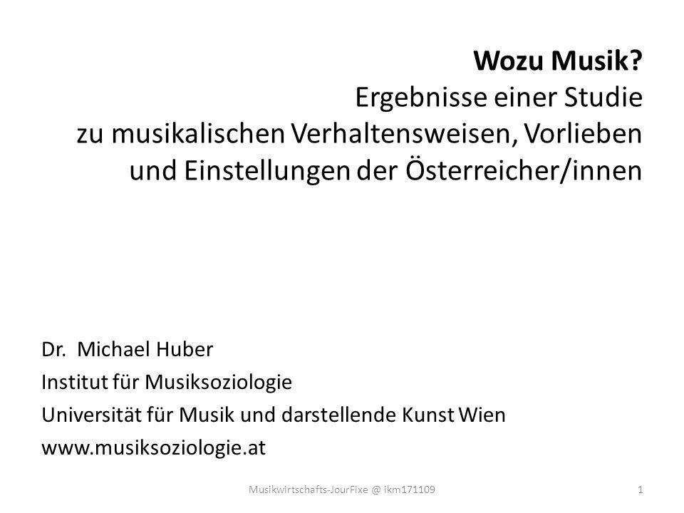 Wie oft in der Freizeit Musik gehört wird (in % d.B.) 2Musikwirtschafts-JourFixe @ ikm171109
