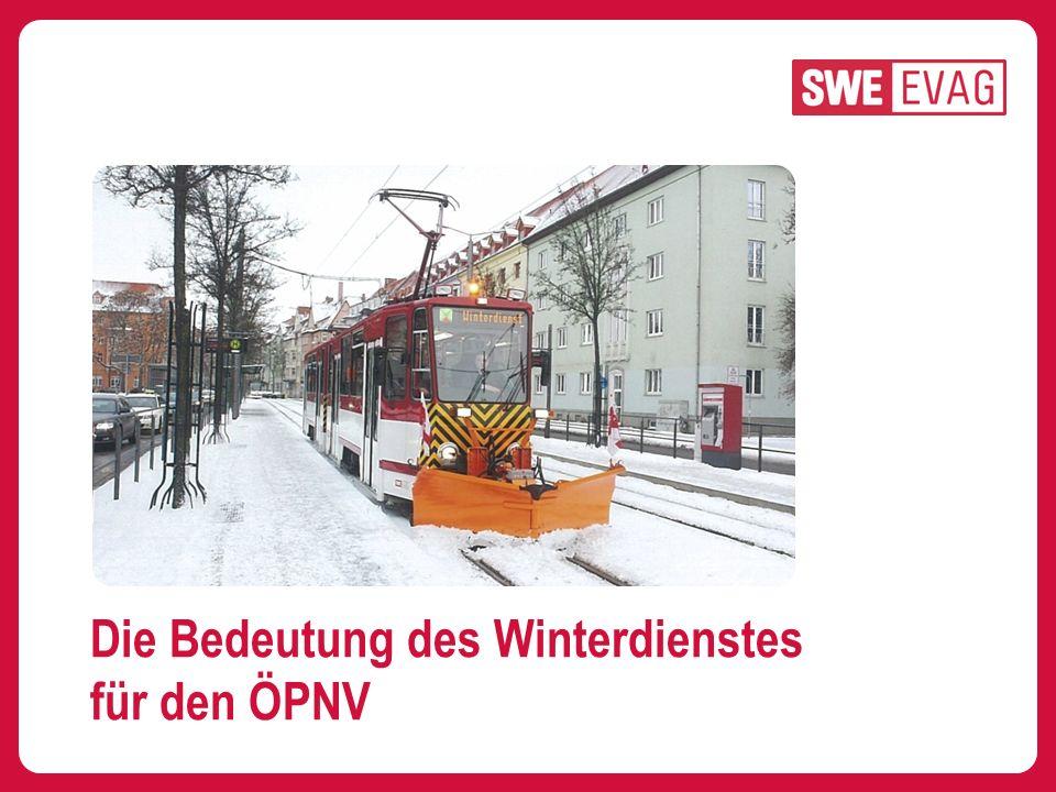 FAZIT: Gute Abstimmung des Straßenwinterdienstes mit ÖPNV-Betreibern sichert Qualität.