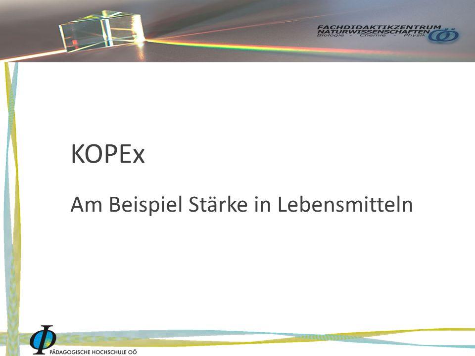 KOPEx Am Beispiel Stärke in Lebensmitteln