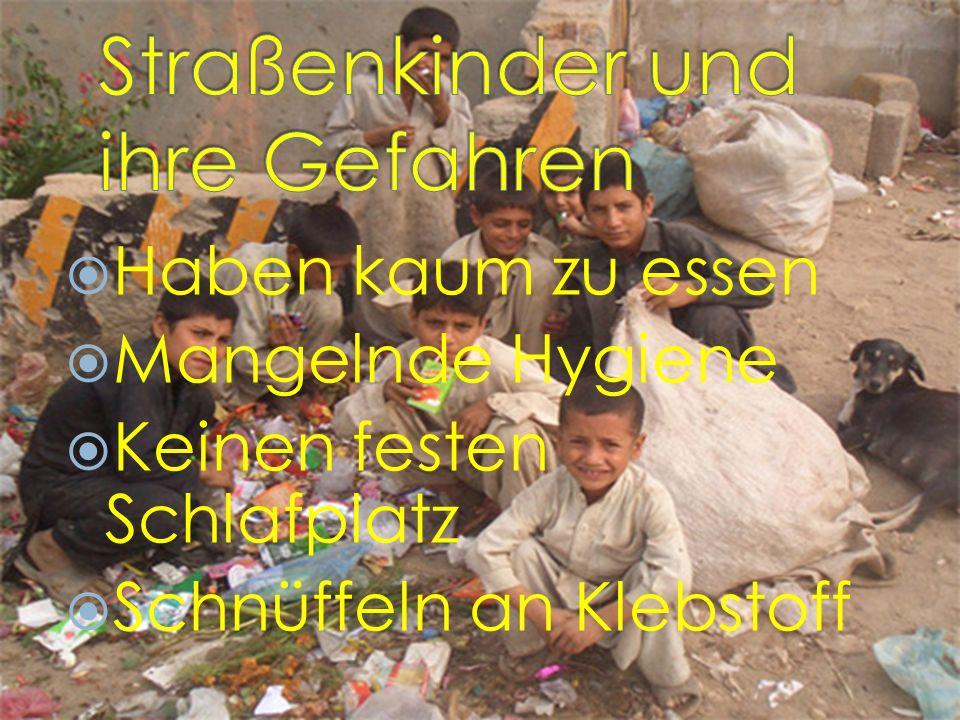 Straßenkinder haben kaum zu essen! Sie hungern und erkranken.