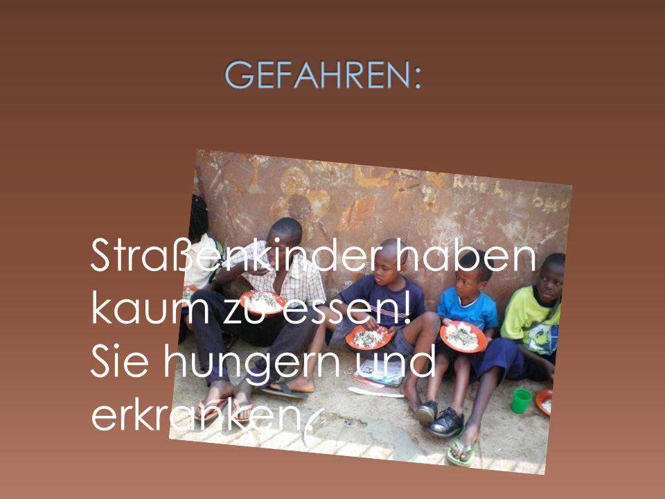 Mangelnde Hygiene und medizinische Versorgung sind große Probleme der Straßenkinder.