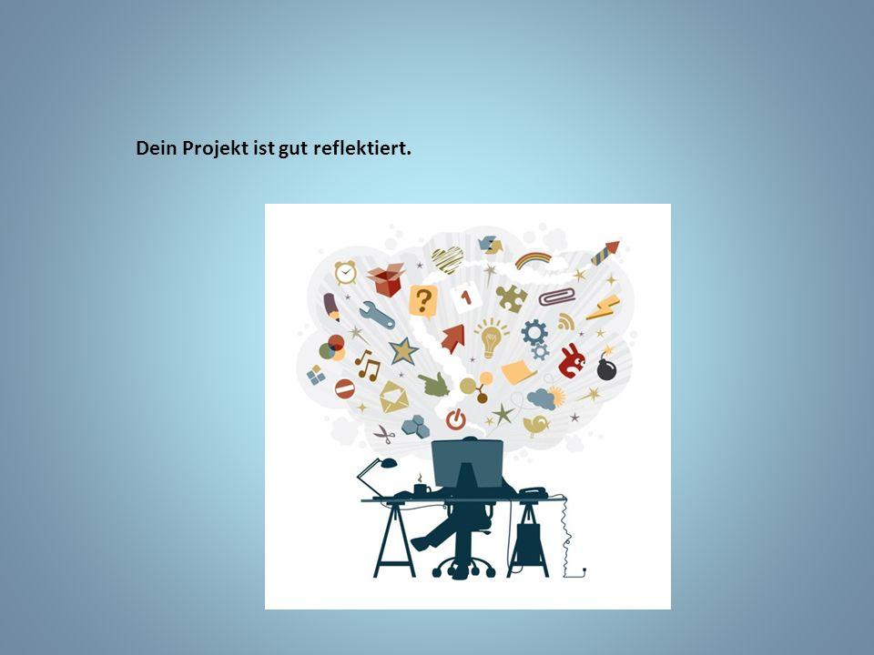 Dein Projekt ist gut reflektiert.