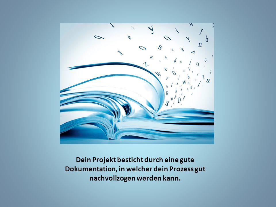 Dein Projekt besticht durch eine gute Dokumentation, in welcher dein Prozess gut nachvollzogen werden kann.