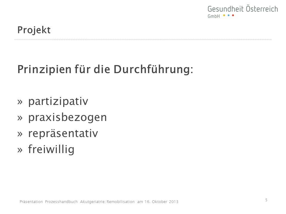 Beispiel: Musterprozess Aufnahme Präsentation Prozesshandbuch Akutgeriatrie/Remobilisation am 16.