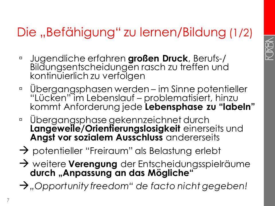 6 Der institutionelle Rahmen der ÜBA – zentrale AkteurInnen und ihre Ziele ÜBA Träger ( Jugend am Werk) Hochwertige Berufsausbildung (Wieder-) Herstel