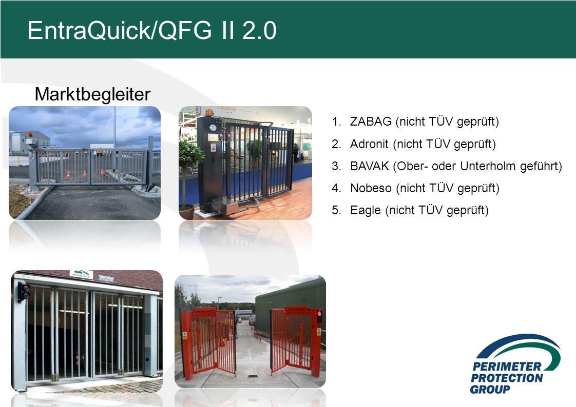 MFZ KONZEPT - Zielsetzung Marktbegleiter 9 EntraQuick/QFG II 2.0 1.ZABAG (nicht TÜV geprüft) 2.Adronit (nicht TÜV geprüft) 3.BAVAK (Ober- oder Unterholm geführt) 4.Nobeso (nicht TÜV geprüft) 5.Eagle (nicht TÜV geprüft)