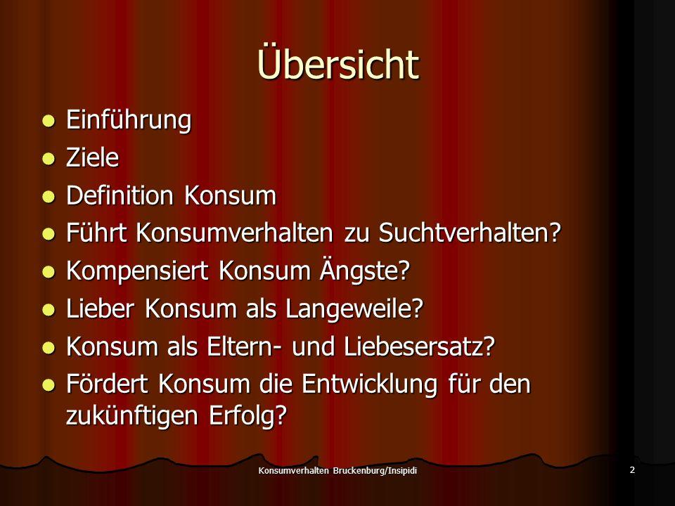 Konsumverhalten Bruckenburg/Insipidi 13
