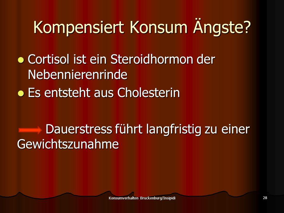 Kompensiert Konsum Ängste? Cortisol ist ein Steroidhormon der Nebennierenrinde Cortisol ist ein Steroidhormon der Nebennierenrinde Es entsteht aus Cho
