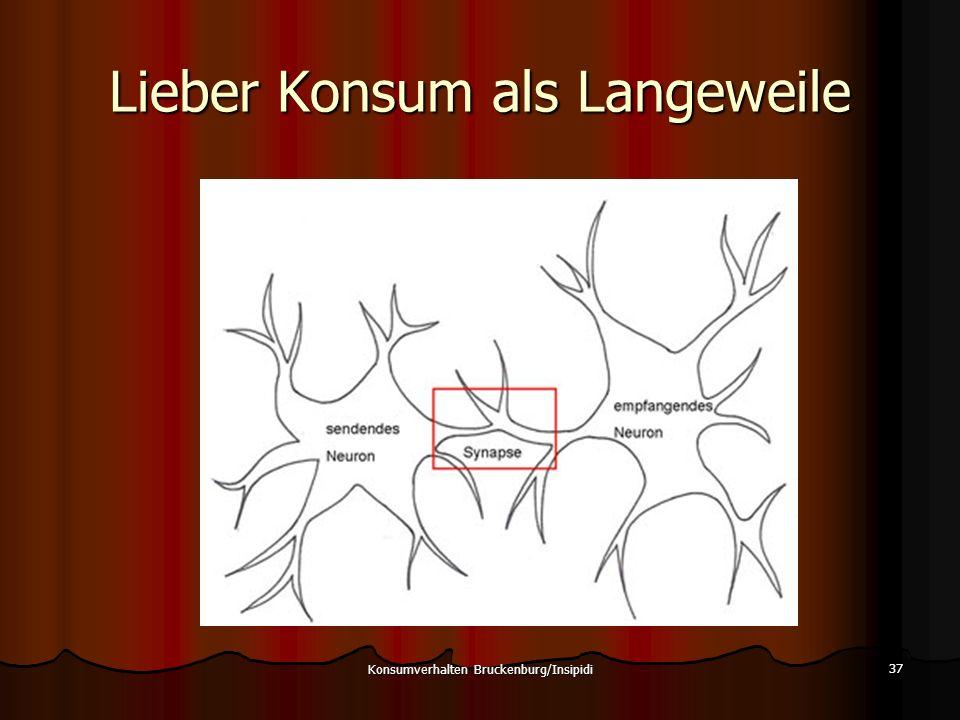 Lieber Konsum als Langeweile 37 Konsumverhalten Bruckenburg/Insipidi