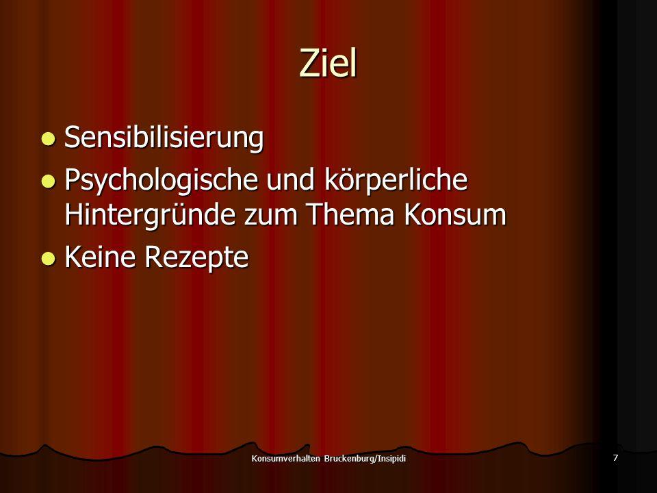 Lieber Konsum als Langeweile 38 Konsumverhalten Bruckenburg/Insipidi