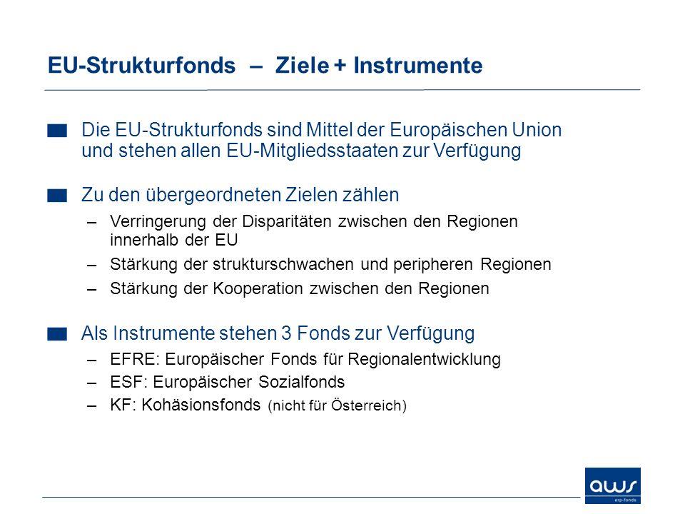 EU-Strukturfonds – Ziele + Instrumente Die EU-Strukturfonds sind Mittel der Europäischen Union und stehen allen EU-Mitgliedsstaaten zur Verfügung Zu d
