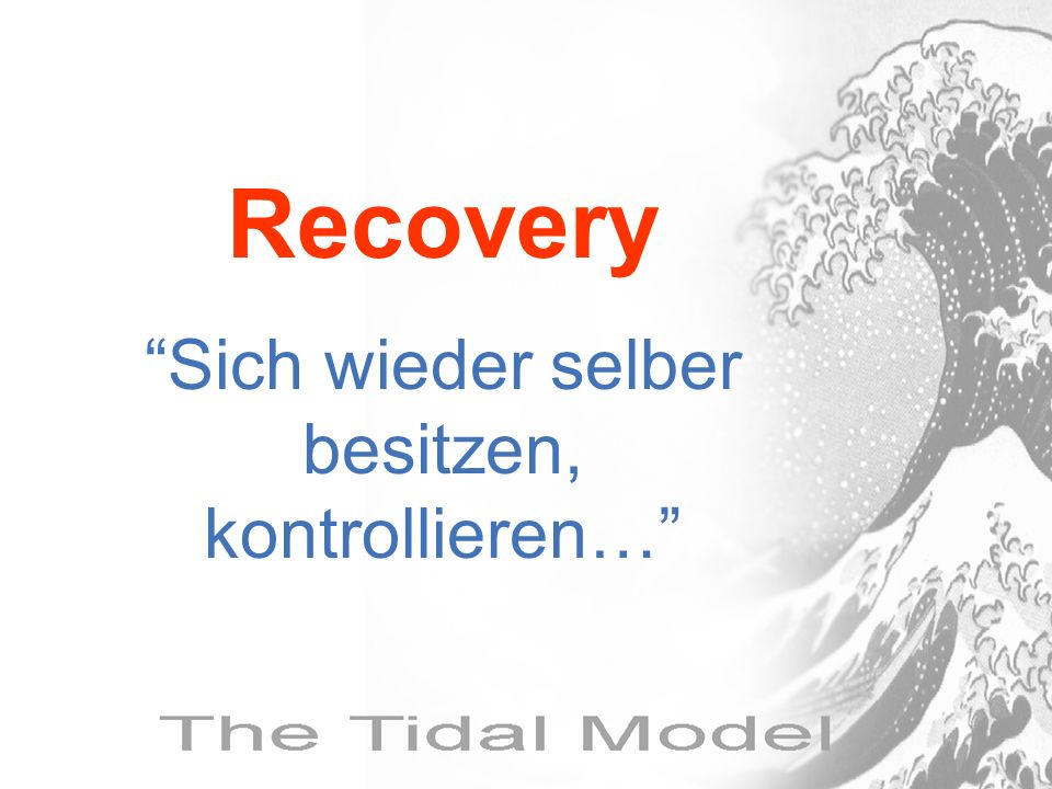 Recovery Sich wieder selber besitzen, kontrollieren…