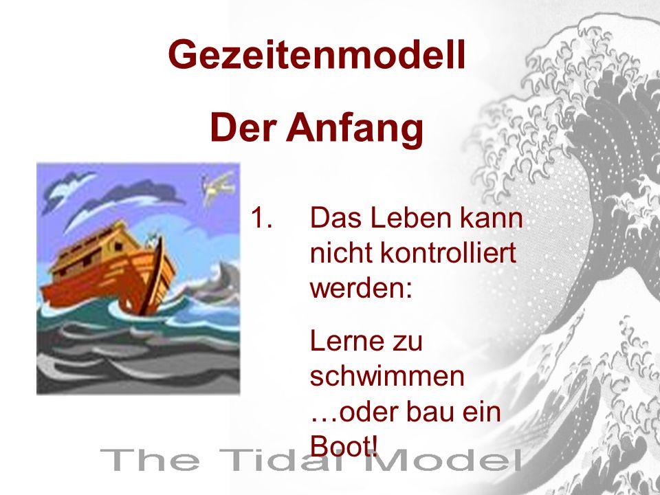 1.Das Leben kann nicht kontrolliert werden: Lerne zu schwimmen …oder bau ein Boot! Gezeitenmodell Der Anfang