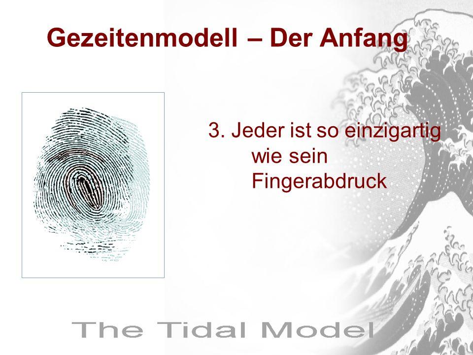 Gezeitenmodell – Der Anfang 3. Jeder ist so einzigartig wie sein Fingerabdruck