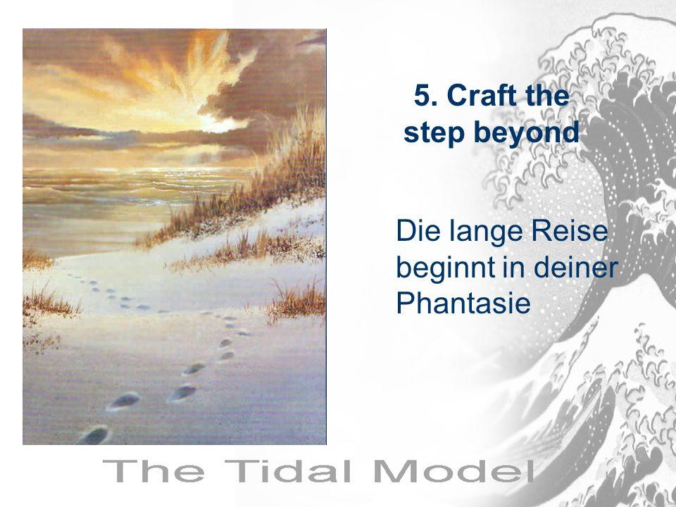 Die lange Reise beginnt in deiner Phantasie 5. Craft the step beyond
