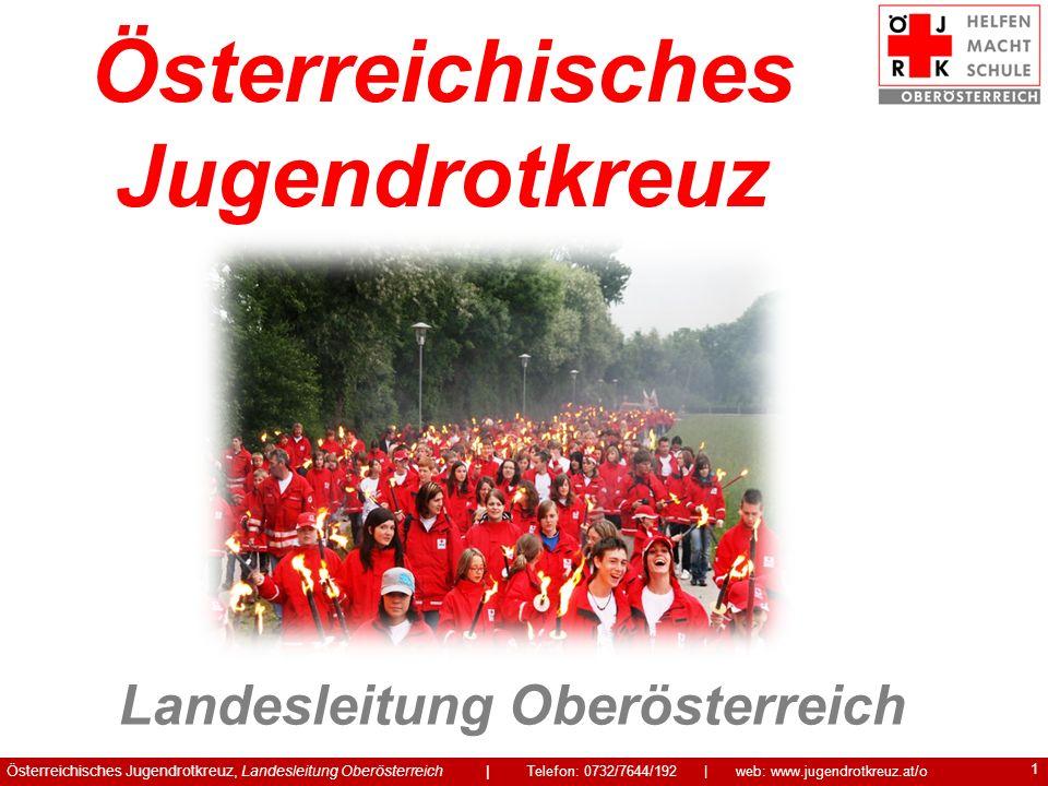 1 Österreichisches Jugendrotkreuz, Landesleitung Oberösterreich | Telefon: 0732/7644/192 | web: www.jugendrotkreuz.at/o Österreichisches Jugendrotkreu