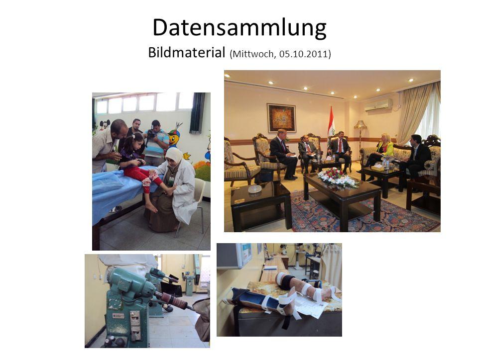 Datensammlung Bildmaterial (Mittwoch, 05.10.2011)