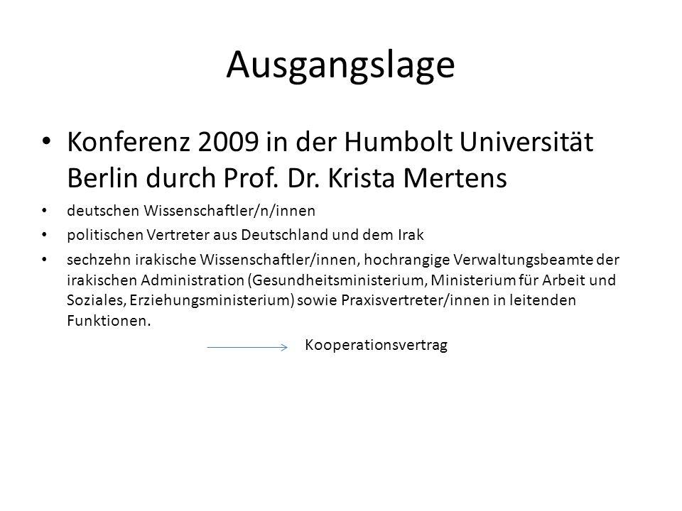 Ausgangslage Konferenz 2009 in der Humbolt Universität Berlin durch Prof. Dr. Krista Mertens deutschen Wissenschaftler/n/innen politischen Vertreter a